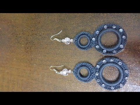 orecchini doppio cerchio all'uncinetto tutorial - YouTube