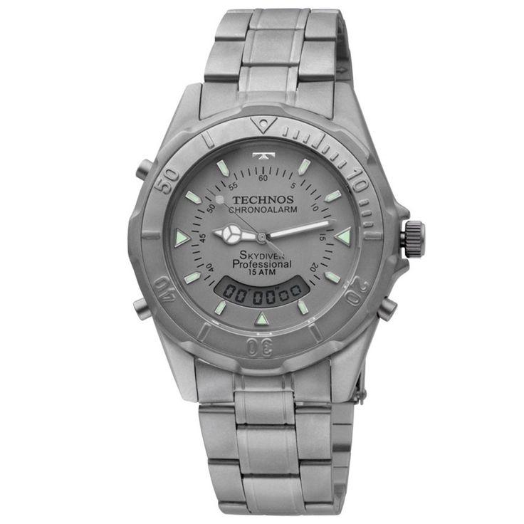 [TimeMob] Relógio Technos Skydiver Titanio R$218,40 ou Technos TS Carbon R$299,00