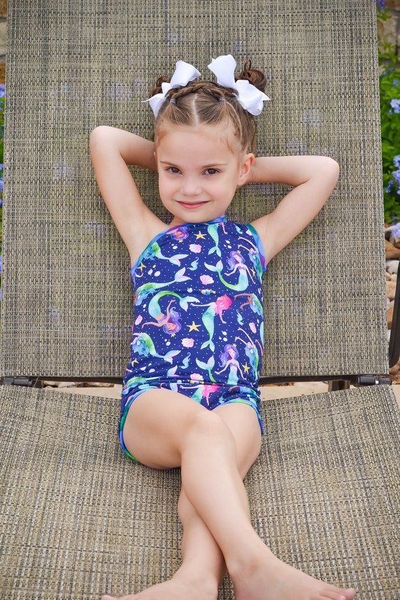 33d88775df Girls Swimsuit - Mermaid Swimsuit - Girls One Piece Swimsuit - Swim ...
