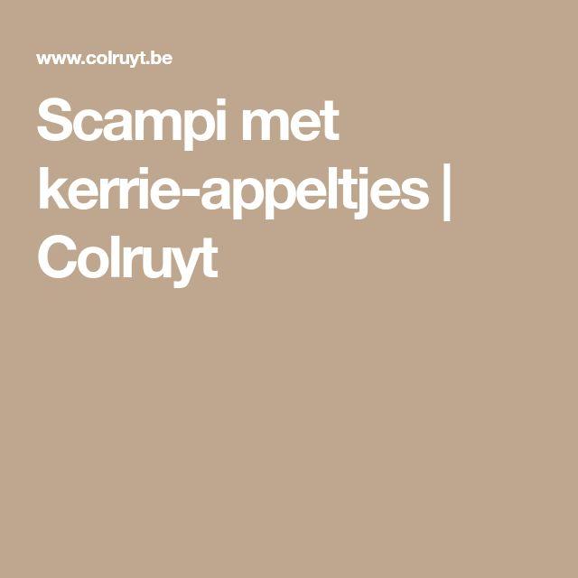 Scampi met kerrie-appeltjes | Colruyt