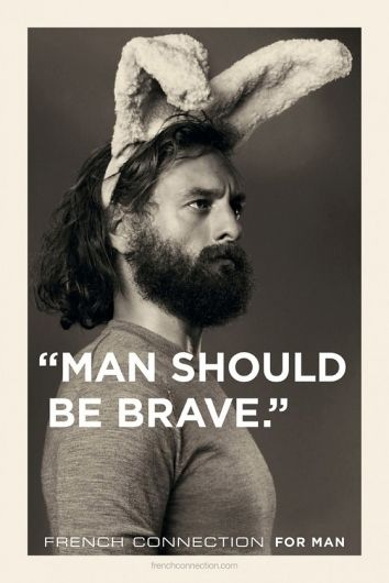 Real men wear bunny ears.