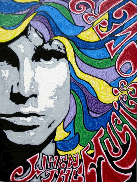 JIM MORRISON: Amazing Paintings, Jim Morrison, Psychedelic Posters, Psycodelic Posters, Posters Muziek, ️Music Posters ️