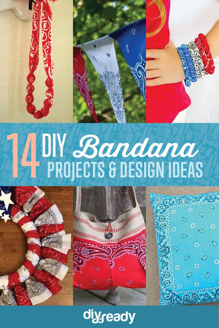 14 DIY Bandana Design Projects, see more at http://diyready.com/14-diy-bandana-design-ideas
