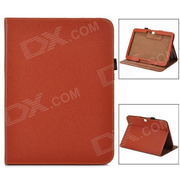 Brand: N/A; Quantity: 1 Piece; Color: Brown; Material: PU leather; Style: Leather Cases; Type: For Tablets; Compatible Model: Samsung Galaxy Tab3 P5200; Other Features: Personalize your device and protect your it from scratch, dust and shock; Packing List: 1 x Case; http://j.mp/1ljFmJj