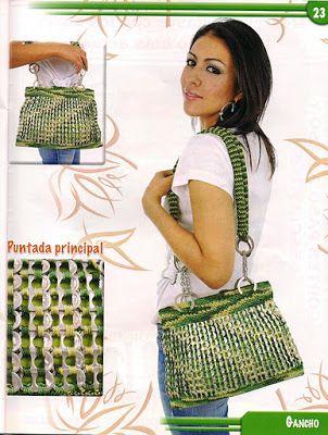 Mis labores en Crochet: Revista de Bolsas tejidas en Crochet con fichas (lacres)