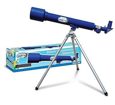 NEW & BOXED DISCOVERY CHANNEL 50mm ASTRONOMICAL TELESCOPE