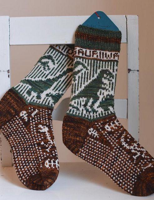 Dino-socks by osloann
