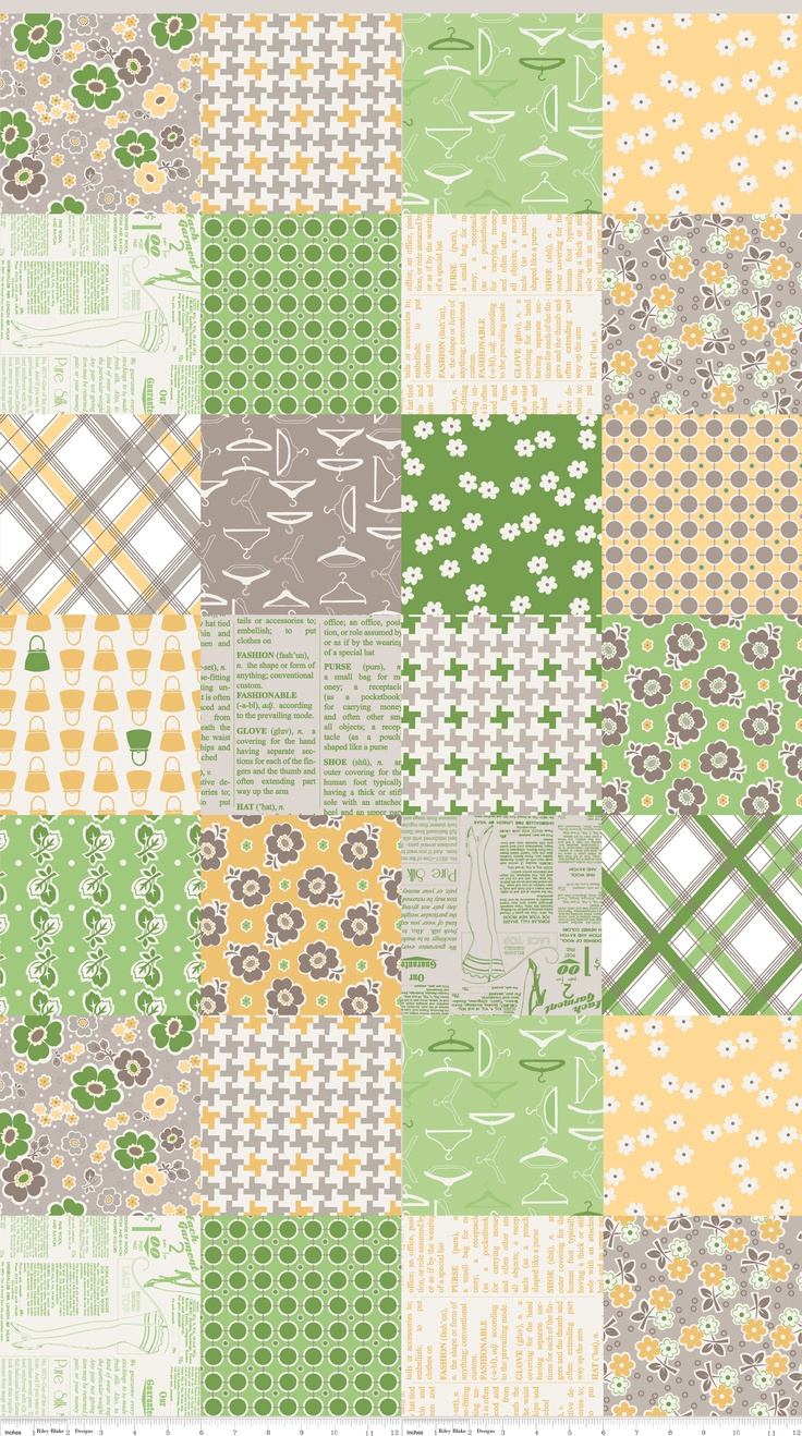 "Cheater - 6"" blocks from Lori Holt! Cut your own charm squares for much less!"