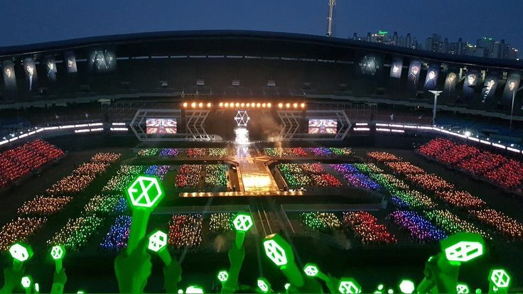 Fans Created The Most Beautiful Rainbow Ocean For EXO — Koreaboo