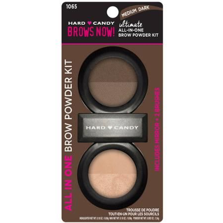 Hard Candy Brows Now! Ultimate All in One Brow Powder Kit, 1065 Medium Dark, .45 oz