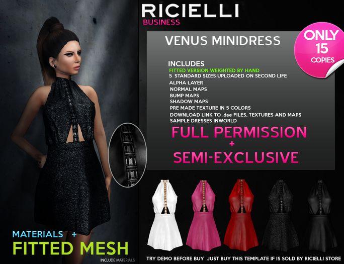 Ricielli - Venus Minidress FITTED FULL PERMISSION