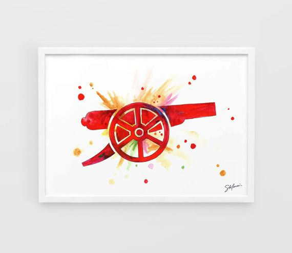 Arsenal FC Gunners - A3 Art Prints of the Original Watercolors Paintings