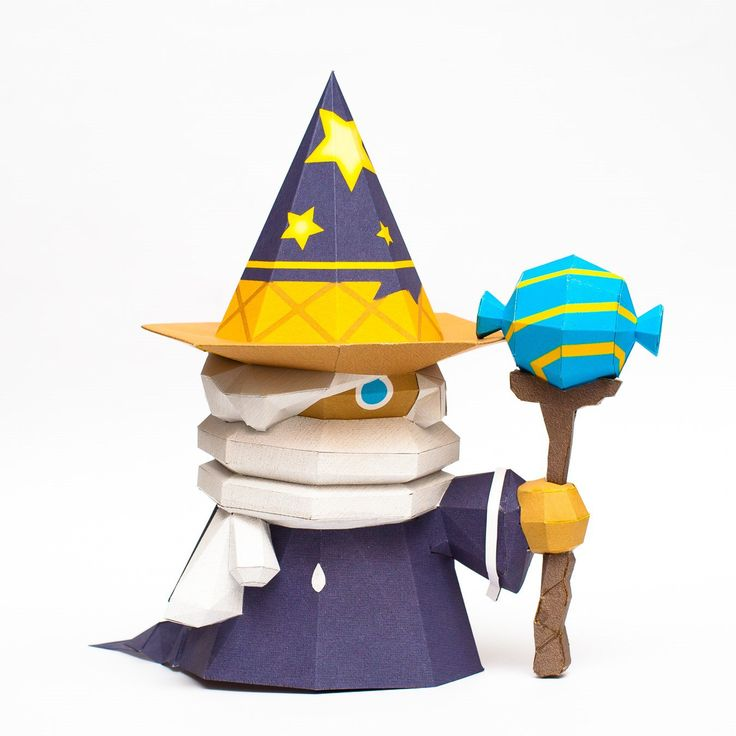 Wizard Paper Toy Free Template