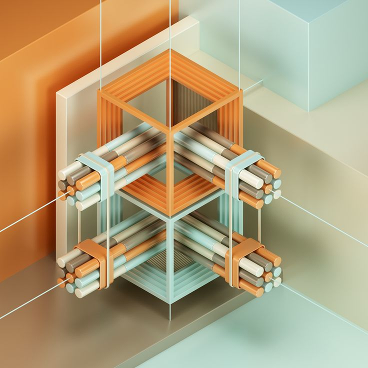 I can't get enough of abstract artworks, especially those in isometric perspective with some nice 3D effects like the work that Jean-Michel Verbeeck created titled Abstracts.