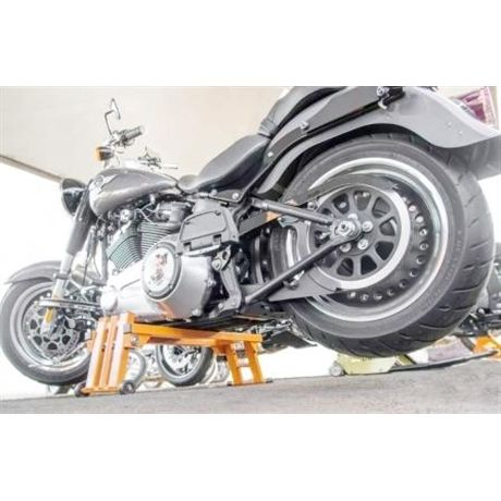 Cavalete central universal para motos custom até 600kg - Laranja.