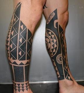 Maori Polynesian Tattoo Calf