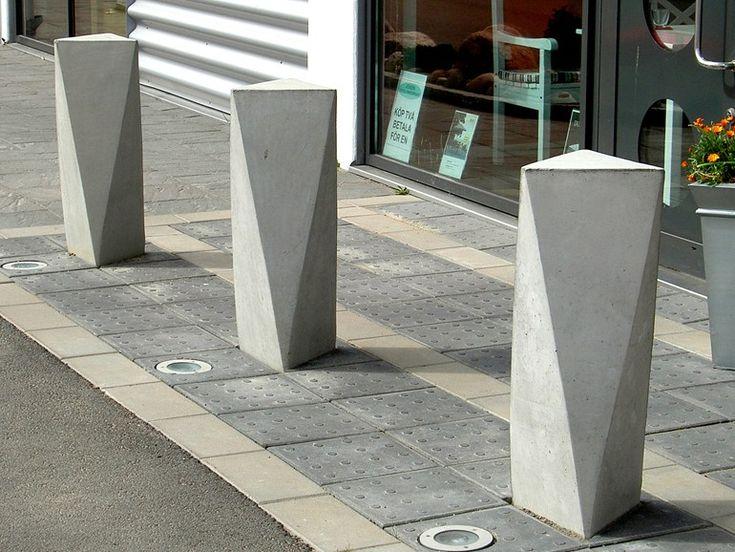 Fixed reinforced concrete bollard ACKORD by Nola Industrier | design Veikko Keränen