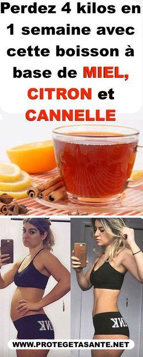 Perdez 4 kilos en 1 semaine avec cette boisson à base de miel, citron et cannelle