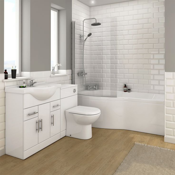 alaska bathroom suite with b shaped shower bath profile large image view 2 metro tiles