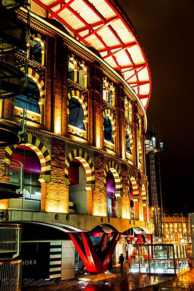 Arenas de #Barcelona de noche. #turismo #Catalunya