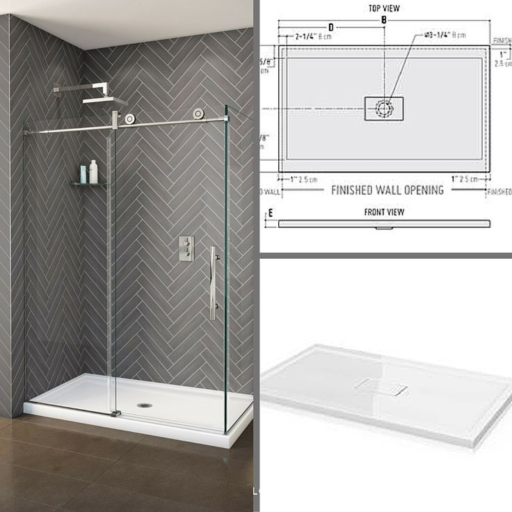 "Make your stand-up shower simple and modern with our Concealed Quad Center Drain. The drain is ""hidden"" for a sleek look."