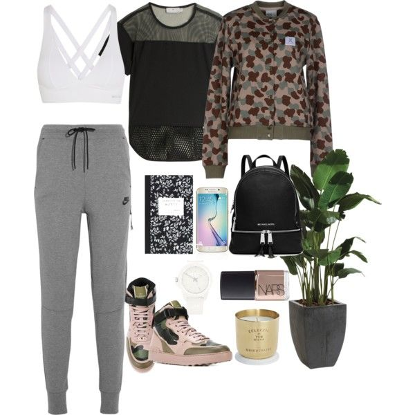 A fashion look from October 2015 featuring WeSC sweatshirts, adidas t-shirts and NIKE activewear pants. Browse and shop related looks.