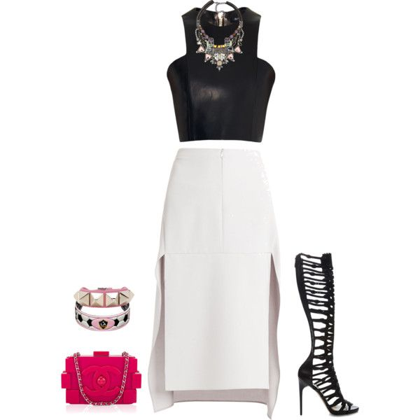 outfit 1641 by natalyag on Polyvore featuring Balmain, BCBGMAXAZRIA, Paul Andrew, Nocturne, Valentino and GameWear