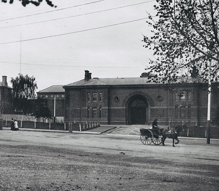 1907. Old Melbourne Gaol.  .