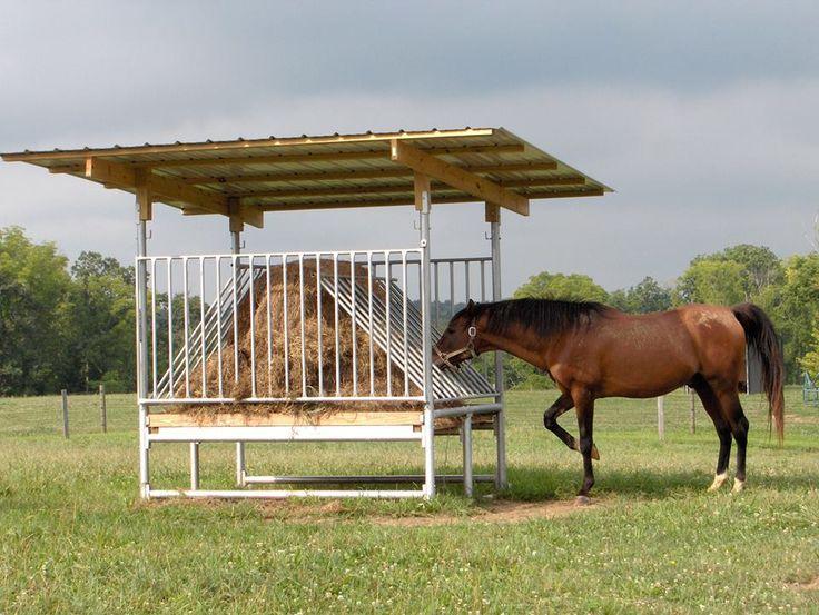 Hay Saver Horse Feeder -  Klene Pipe Structures H-8  Hay Saver Feeder