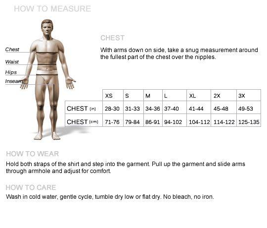 Short Chest T Vest Breathable Buckle Binder Trans Ian