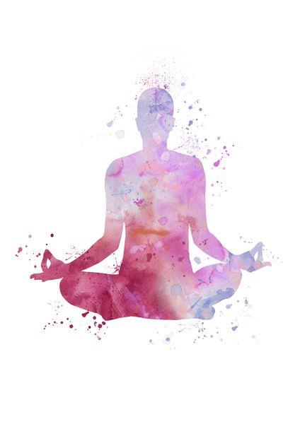 Yoga - Lotus pose  Art Print
