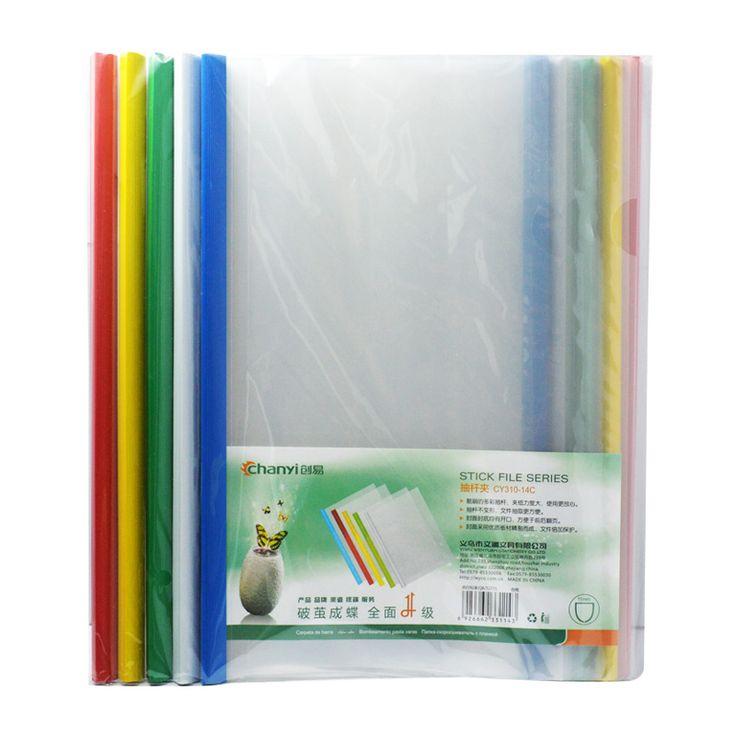 A4 CHUANGYI  stick file series transparent thickened plastic folder 10pcs/lot #Affiliate