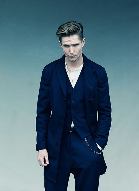 Single-Breasted Workwear Chesterfield #ss13 #navy #garbardine #farrell
