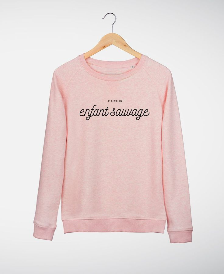 Sweats Femme Enfant Sauvage Rose chine by Madame TSHIRT
