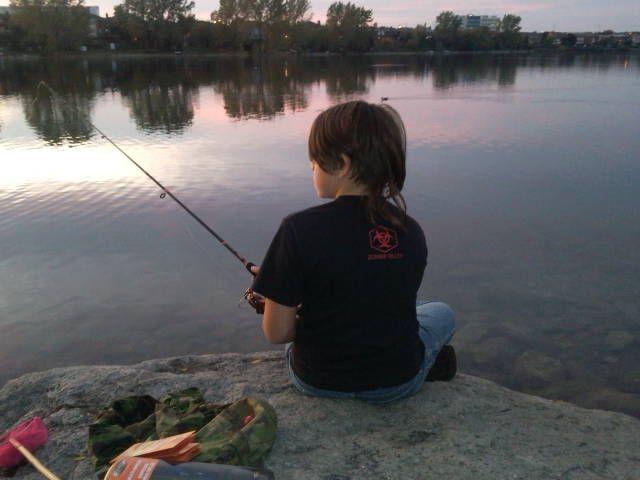 Twilight Fishing. Professor's Lake, Brampton