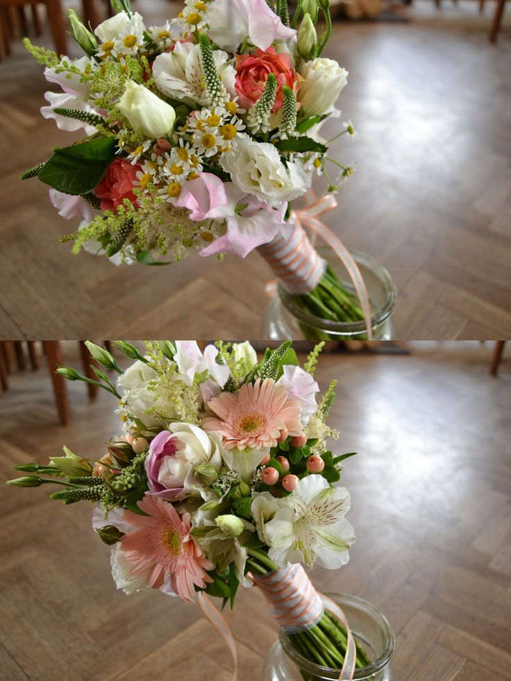 Svatební kytice ze zahrady