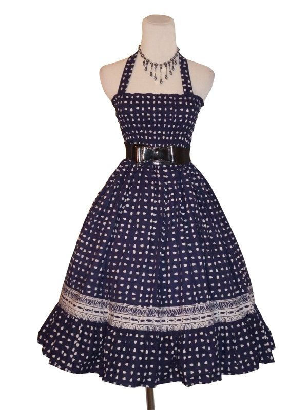 1950s Rockabilly Vintage Style Summer Dress  in by Darmianifashion, $69.00