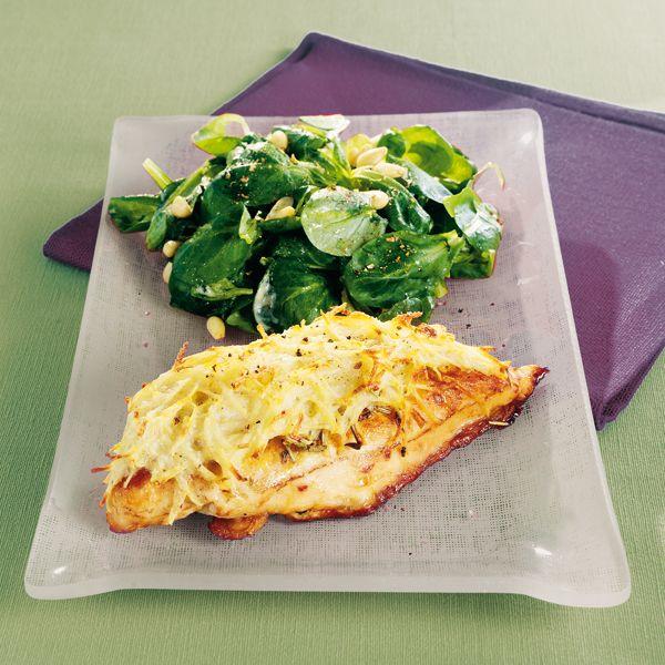 WeightWatchers.fr : recette Weight Watchers - Filets de poulet en croûte de pommes de terre