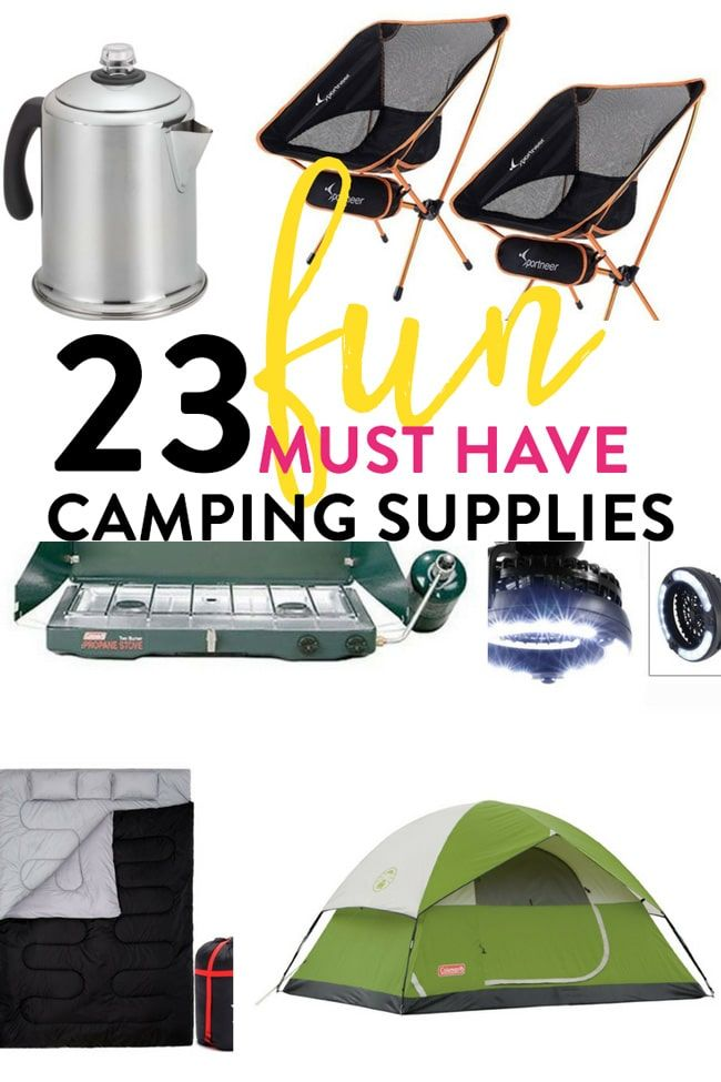 23 Fun Must Have Camping Supplies