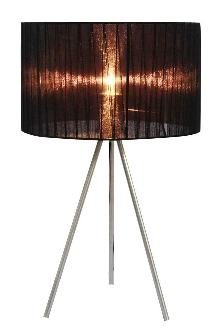 Simple Designs LT2006-BLK Sheer Silk Band Tripod Table Lamp, Black, Table Lamps - Amazon Canada