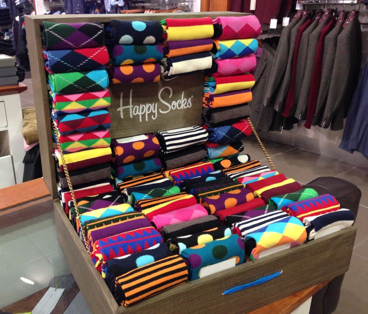 Men's Happy Socks in Bright Multi Patterns @ Coes