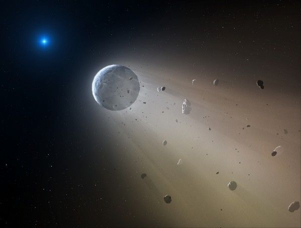 "Astronomers find dead star destroying a planet 10/21/15 ""This is something no human has seen before,"" said astronomer Andrew Vanderburg ""We're watching a solar system being destroyed."""
