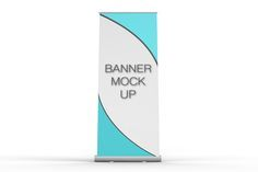 Pull-Up Banner Stand Mock-Up by mockupstore.net on @creativemarket
