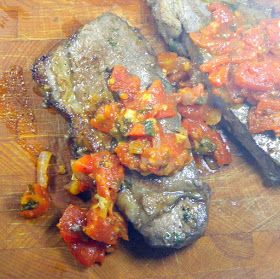 Inspired By eRecipeCards: Marinated Steak with Pizzaiola Sauce (Bistecca marinata alla pizzaiola)