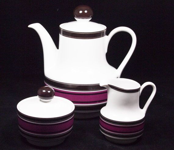 3 piece tea service by Winterling Roslau by ThatVintageWorld