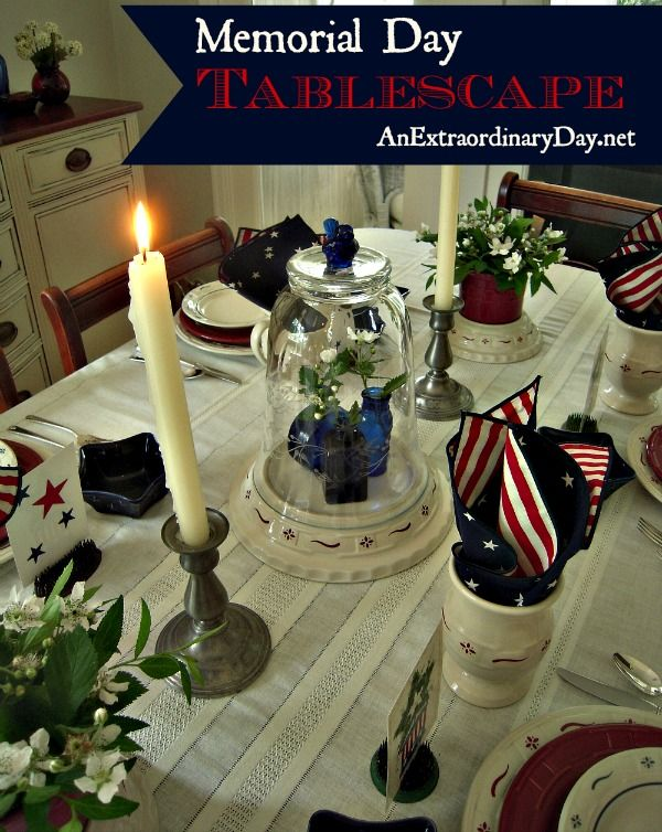 The holiday is nearly here! No fear! Check out these extraordinary Memorial Day tablescape ideas!