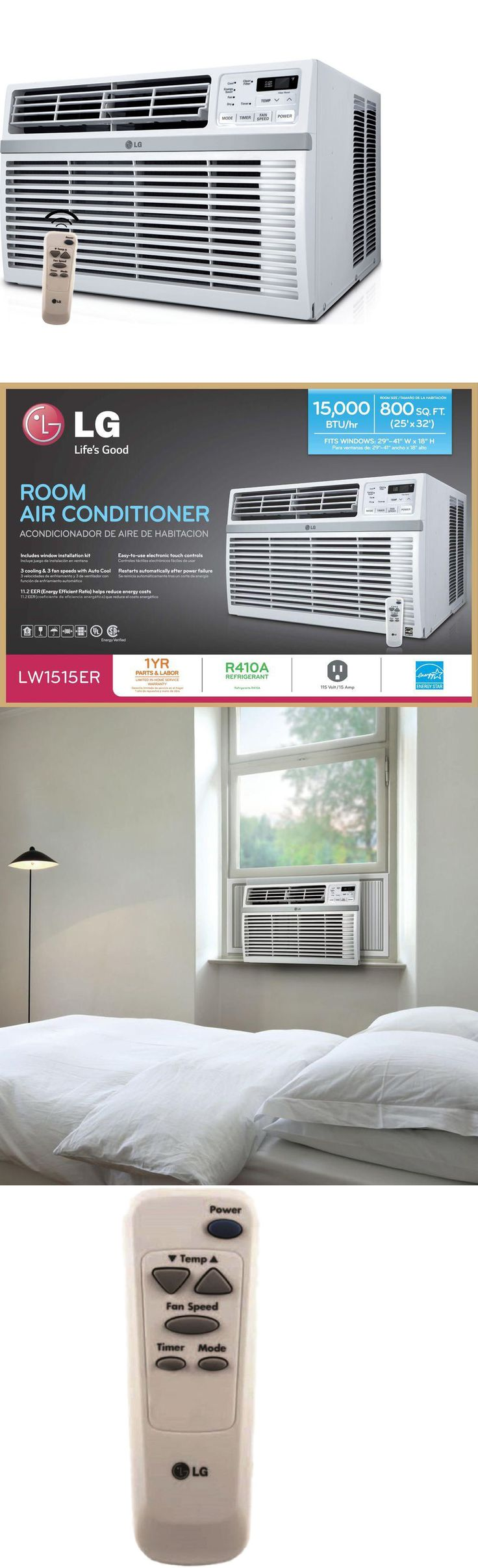 Air Conditioners 69202: Lg 15000 Btu Energy Star Window Air Conditioning, 115V Ac Unit W Remote Control -> BUY IT NOW ONLY: $439.95 on eBay!