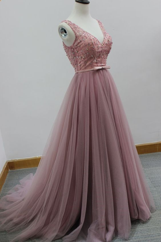 New Arrival V Neck Prom Dress,Backless Prom Dress,Sexy