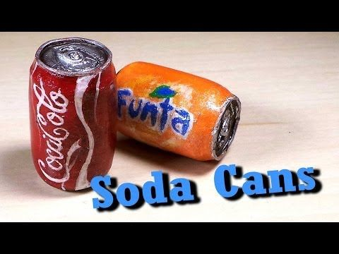 Polymer Clay Soda Can Tutorial - Charm/Miniature - YouTube