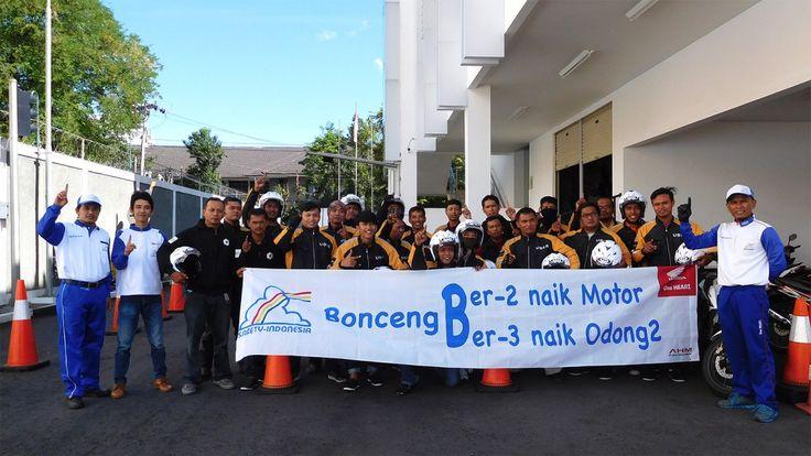 Pertama di Yogyakarta, Uber Driver Ikut Pelatihan Safety Riding Honda